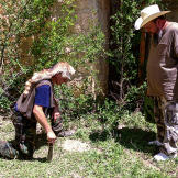 Turtleman and Neal investigate the property surrounding the Alamo Vill