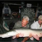This alligator gar in River Monsters were caught in the Trinity River