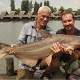 While fishing for the giant freshwater stingray, Jeremy Wade captures