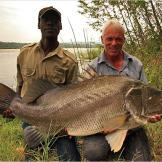 Jeremy Wade with a Nile perch. The Nile perch is considered one of the