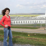 Cathy Fontenot, assistant warden, outside of Louisiana's Angola Prison