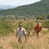 The survival duo starts out across the bush with all their senses on h