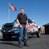 Rich out in front with his decked-out All-American Gunsmoke truck.