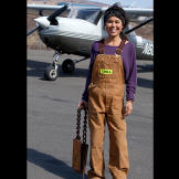 Ariel is the only member of the family who does not have a pilot's license, though she is working to change that.