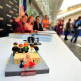 A custom MythBusters Lego set makes an appearance at Tory, Grant and K