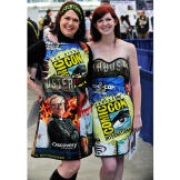 Two of the fans fashioned their clothes from previous MythBusters Comi