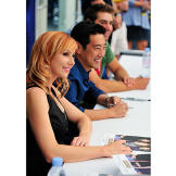 On Saturday, July 23, 2011, Kari Byron, Grant Imahara and Tory Belleci signed autographs and met with fans for an hour and a half at Comic Con.