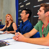 The MythBusters actually interrupted their summer hiatus from filming to attend Comic Con.