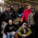 The Time Bandit's crew this season includes, from left to right, back