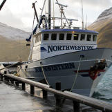 The Northwestern in Dutch Harbor, Alaska not long after it sailed up f
