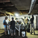 Doug Glover and Troy Paff set up the first interior shot at Ghann's Cr