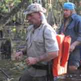 Cody and Dave move cautiously through the dark, danger-laden waters. W