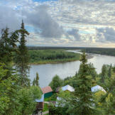 Lying about 10 miles upriver from Unalakeet village, the Unalakeet River Lodge offers some of the best salmon fishing in Alaska. During the summer, many of the lodge's guests fly in from Anchorage on Era Alaska flights.
