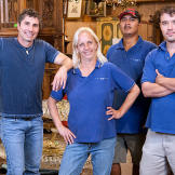 The Gallery 63 crew, from left to right: owner Paul Brown, office mana