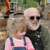 Jack with his beloved two-year-old granddaughter Olivia, the youngest of his son Todd's three children.