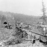Wives pay a visit to their husbands at a gold mine in the Klondike. As the gold rush dragged on, many miners brought their families largely out of economic necessity. Although few struck it rich, the gold rush brought in thousands who ultimately help stimulate the development of Alaska and western Canada.