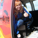 "For 2007's ""Airplane Hour,"" Kari Byron suited up to test some Hollywoo"