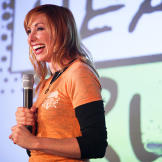 Kari Byron speaks to a full house at the Science and Engineering Festi