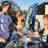 Kari Byron signed items for — and took pictures with — fans for well over an hour.