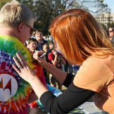 Fans of all ages awaited their turn to meet Kari Byron and receive a signed