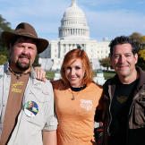 Kari Byron with fellow festival speakers, Science Channel's