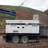 The wash plant's indispensable portable power generator. Keeping it running is one of the claim's chief operating expenses.
