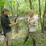 Ruth & Mykel both make a fresh kill for food at the same time in the Louisiana swamps.