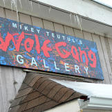 Mikey Teutul's Wolf Gang Gallery and Store is located a few miles down