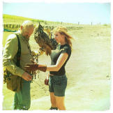 Meeting my favorite bird for a Mythbusters episode. (May 5, 2011)