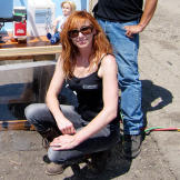"""Can milk stop the muzzle flash of a gun from igniting a room full of methane? In """"Gas Room Boom,"""" Kari Byron, Grant Imahara and Tory Belleci took on a scene from"""
