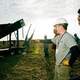 A team prepares for launch under the watchful eye of Jamie Hyneman.