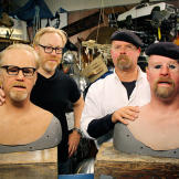 In a freaky face-off fable, Adam Savage and Jamie Hyneman explore whet