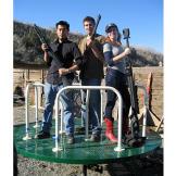 Can a revolver make a merry-go-round revolve? Grant Imahara, Tory Bell