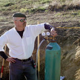 A methane gas tank joins Jamie Hyneman at the Alameda Bomb Range in or