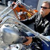 Paul Teutul Sr. sits astride the Jet Bike, from the American Chopper p