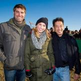 Our Punkin Chunkin hosts of Mythbusters fame, Tory Belleci, Kari Byron