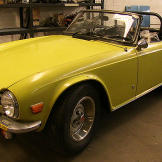 The TR6 with the top removed.