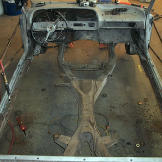 The Impala with the floor panels cut out