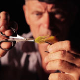 Jeremy Wade fixes a lure.