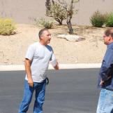 Ed Rosenberg and Doug Hopkins argue over a property.