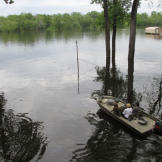 When living in the bayou, boat transportation is crucial. Here, a real