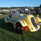 Parking Yellow Car at Concours d Elegance as seen on the Monterey Week