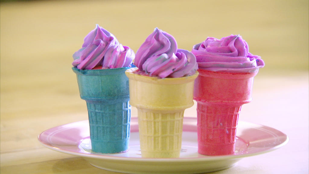 How To Make Ice Cream Cone Cupcakes Cake Boss