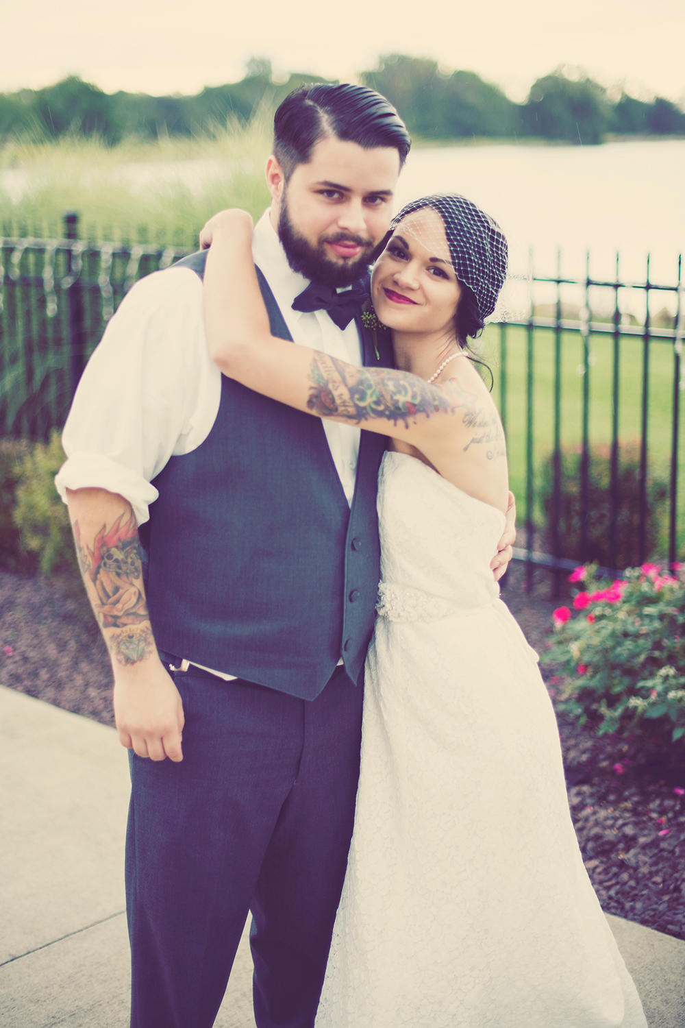 Matt And Angi Posed For A Photo After Their Church Wedding Ceremony