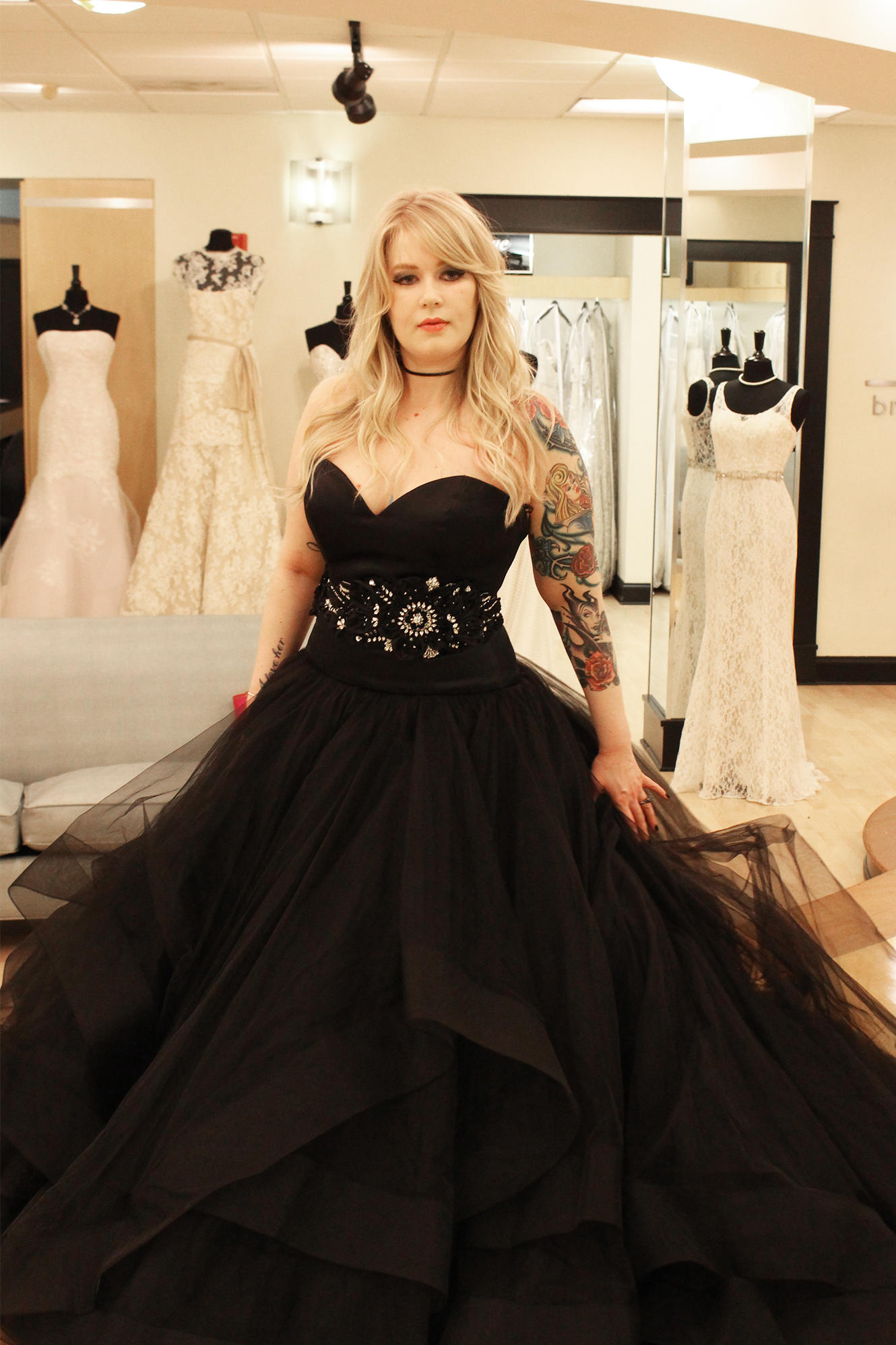 Black Lace Wedding Dress Say Yes To The Dress