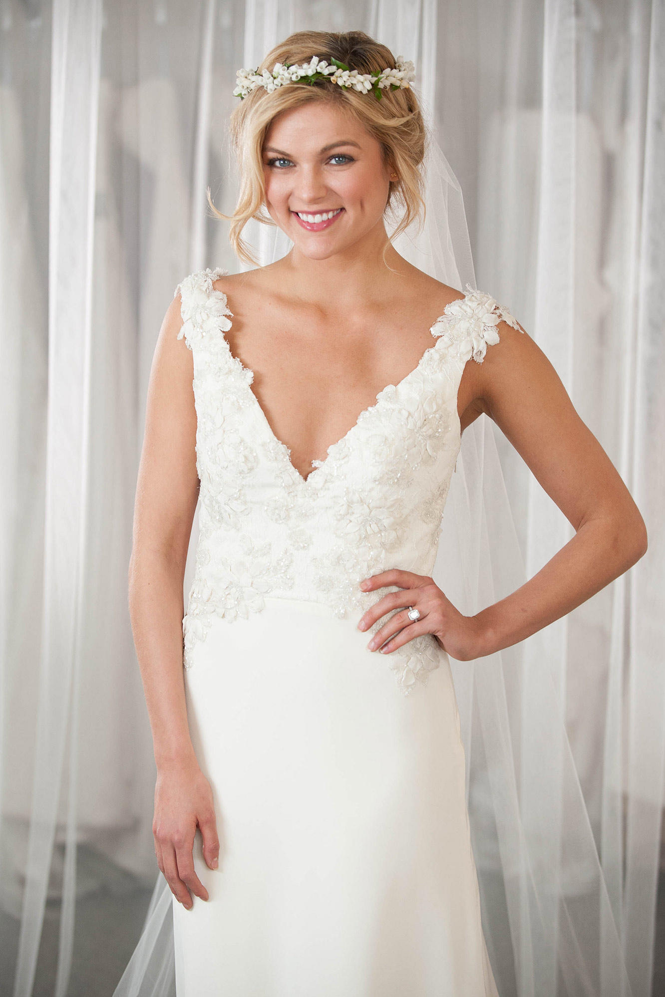 Heidi\\\'s Custom Lace Wedding Dress for a Country Chic Bride ...