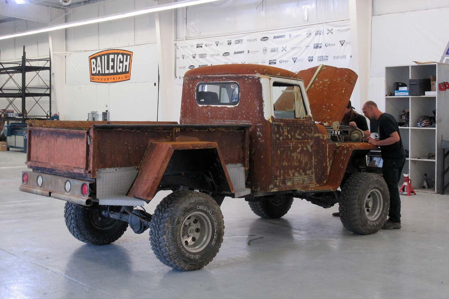 diesel brothers photos duramax monster and a rusty 1948 willy u0027s