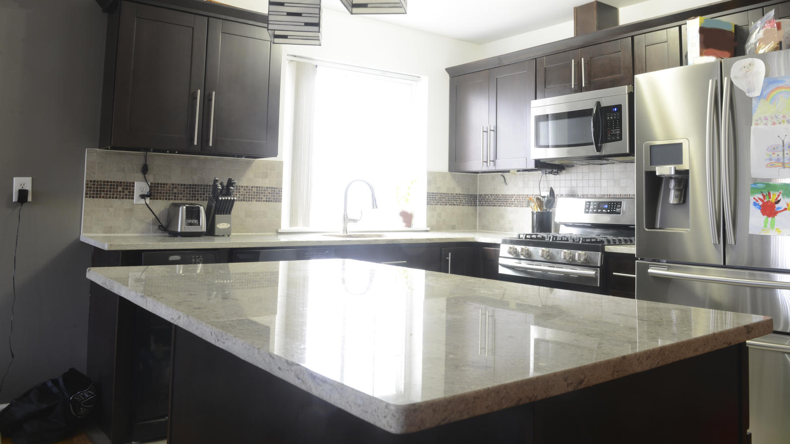 Countertops collect bacteria from everything we leave on them.