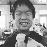 Will enjoys some ice cream