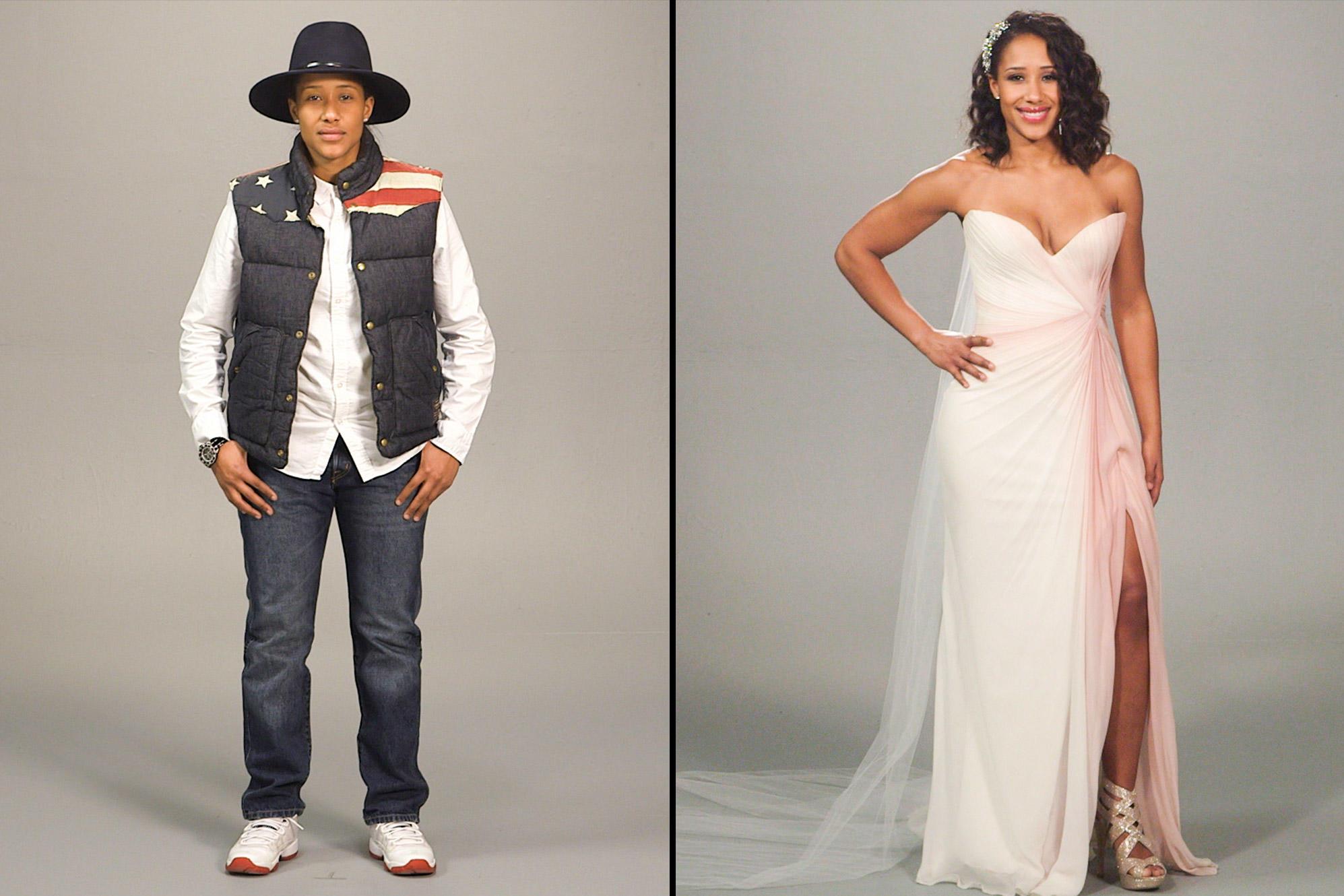 Latex wedding dress brides gone styled host
